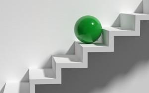 Karriereleiter grün
