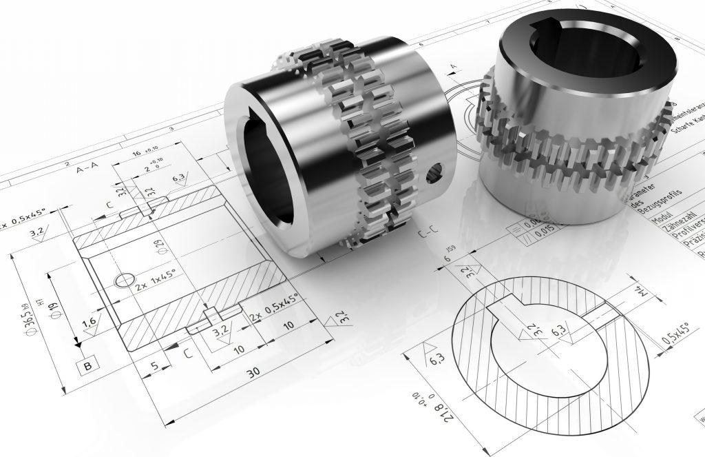 CAD-Visualisierung-Zahnkupplung